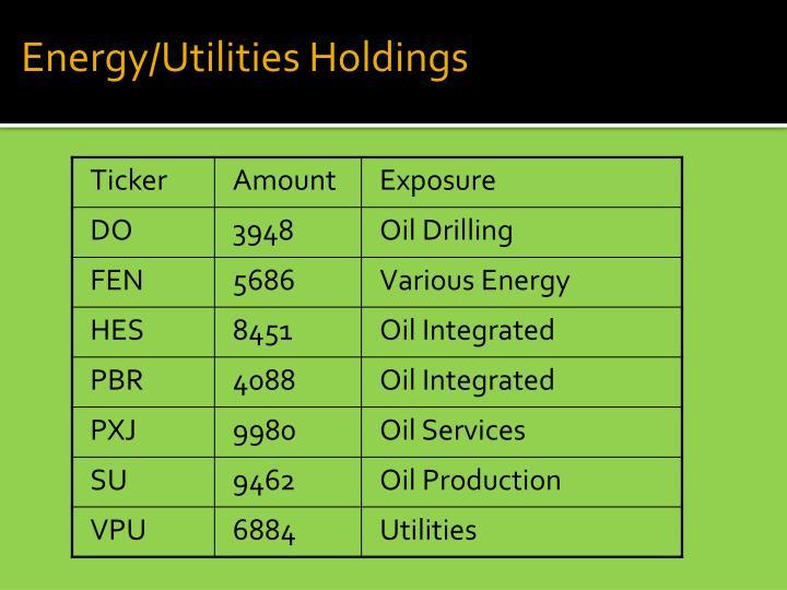 Energy/Utilities Holdings
