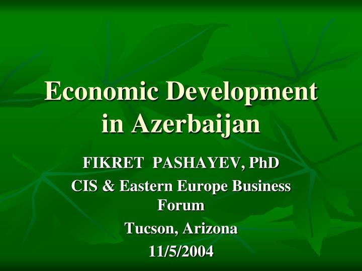economic development in azerbaijan n.