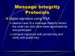 message integrity protocols