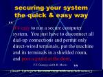securing your system the quick easy way