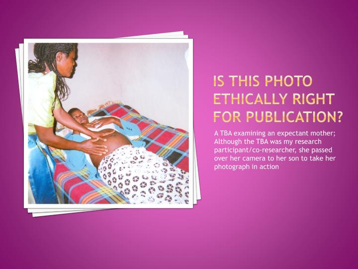 Is this photo ethically right for publication?