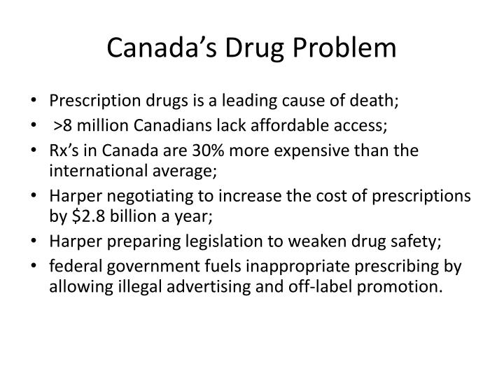 Canada's Drug Problem