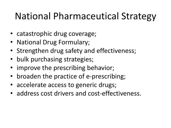 National Pharmaceutical Strategy