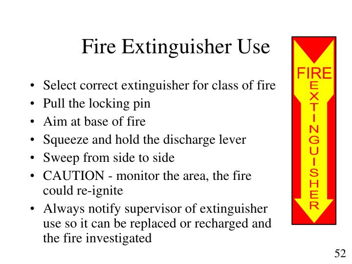 Fire Extinguisher Use