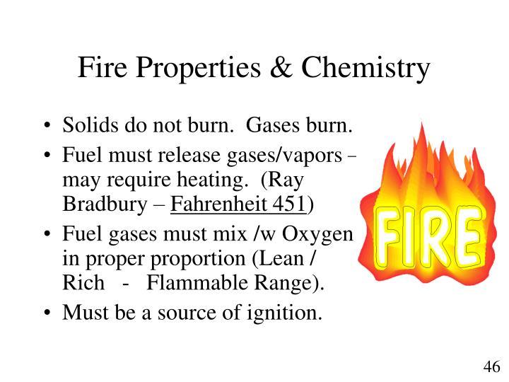 Fire Properties & Chemistry