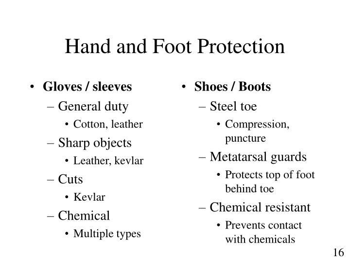 Gloves / sleeves