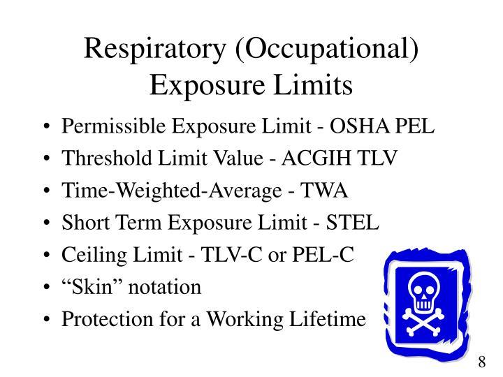 Respiratory (Occupational) Exposure Limits