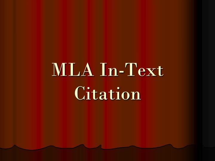 mla in text citation n.