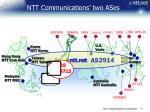 ntt communications two ases
