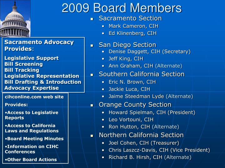 2009 Board Members