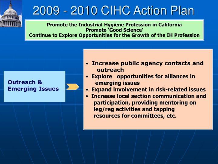 2009 - 2010 CIHC Action Plan