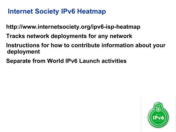 Internet Society IPv6 Heatmap