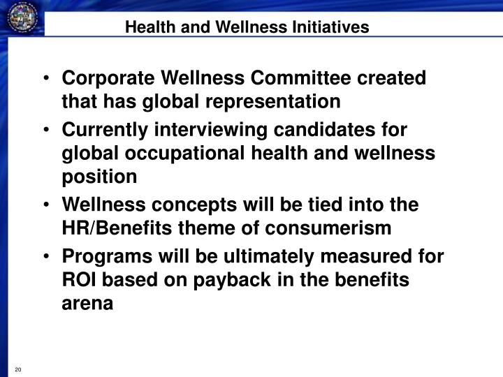 Health and Wellness Initiatives