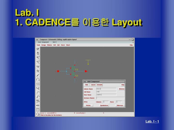 Ppt Lab I 1 Cadence 를 이용한 Layout Powerpoint Presentation Free Download Id 3273461
