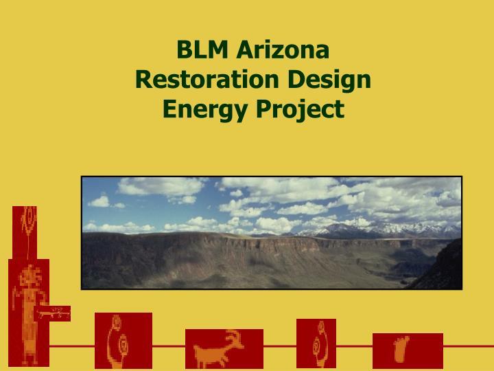 blm arizona restoration design energy project