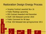 restoration design energy process