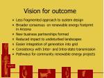 vision for outcome