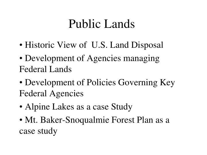 public lands n.