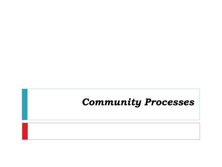 community processes