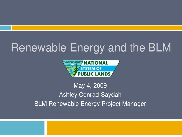 renewable energy and the blm n.