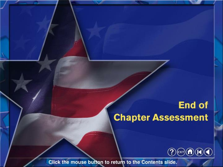 End of Assessment
