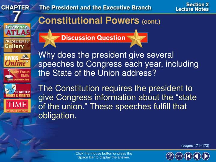Constitutional Powers