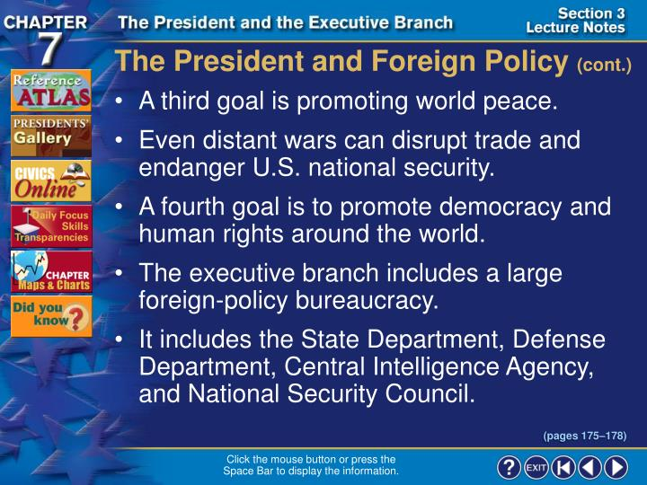 The President and Foreign Policy