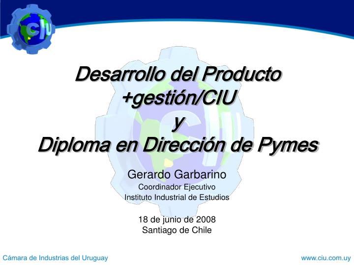 gerardo garbarino coordinador ejecutivo instituto industrial de estudios n.