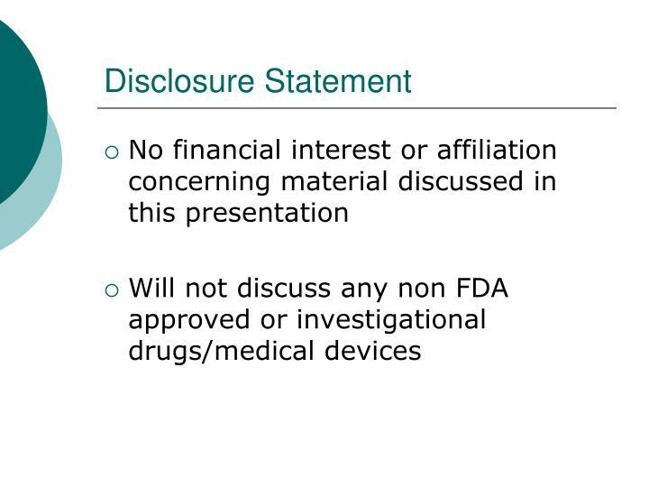 disclosure statement n.