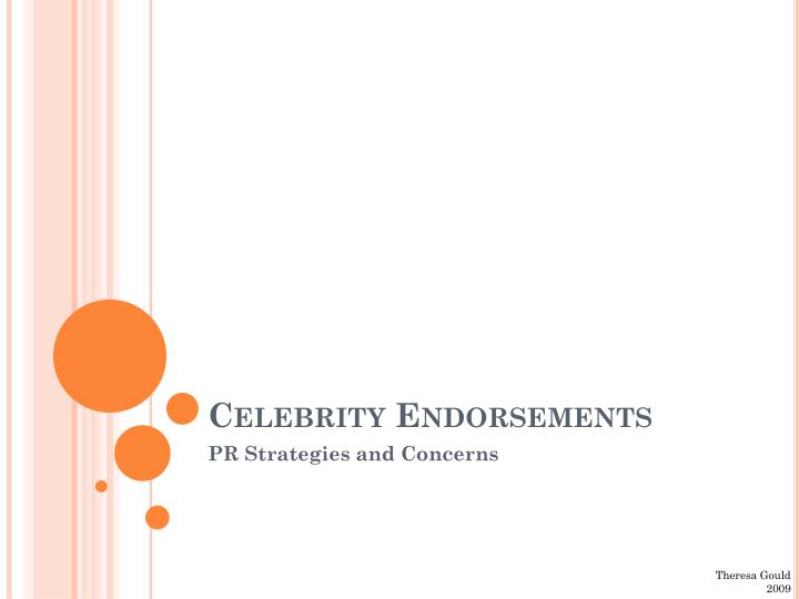 celebrity endorsements n.