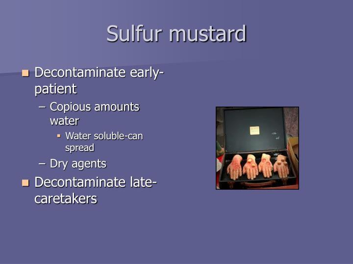 Sulfur mustard