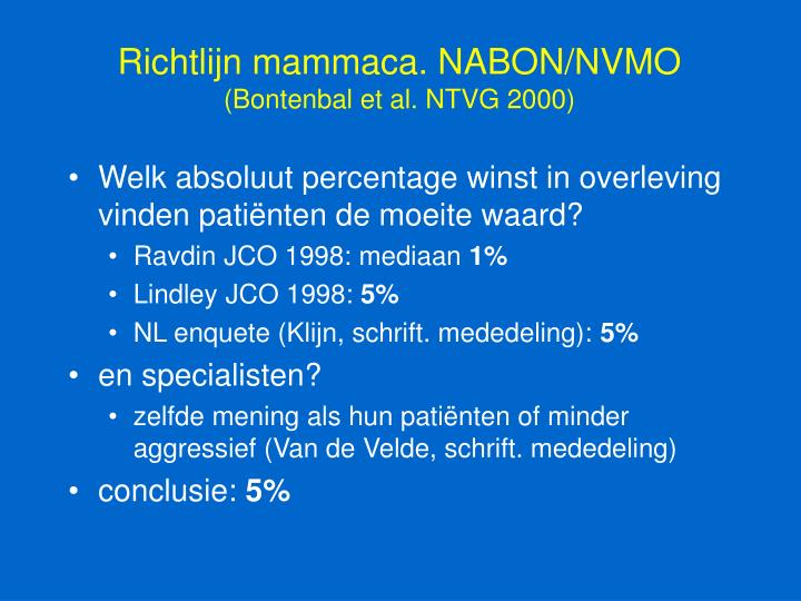 Richtlijn mammaca. NABON/NVMO