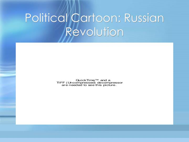 Political cartoon russian revolution