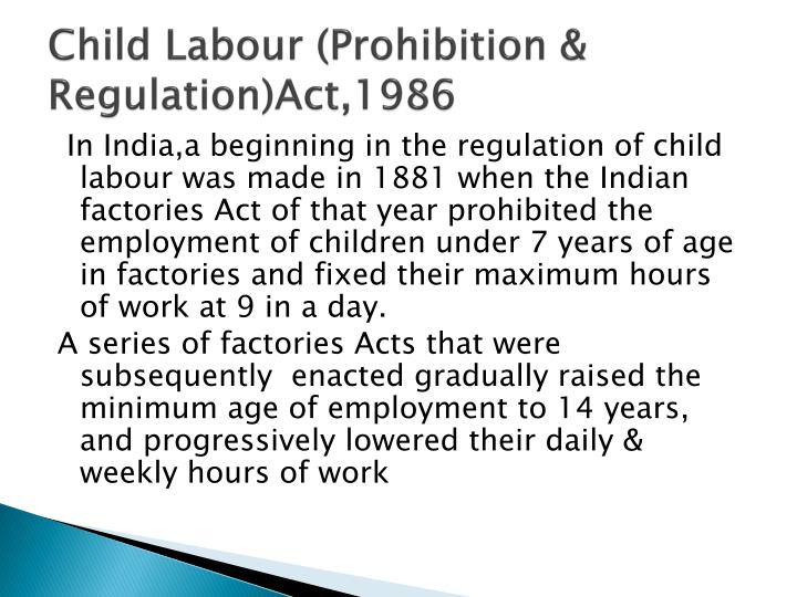 an analysis of the child labor laws Analysis file atelier : workshop on mediation and advocacy in the empowerment   the present regime of laws relating to child labor in india have a pragmatic.