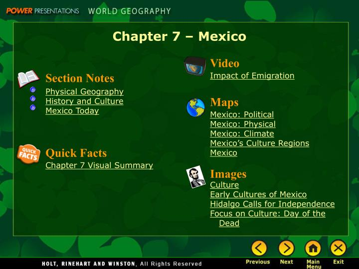 ppt chapter 7 mexico powerpoint presentation id 3273988