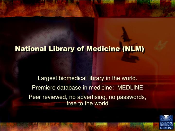 National library of medicine nlm