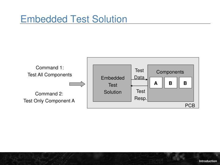 Embedded Test Solution