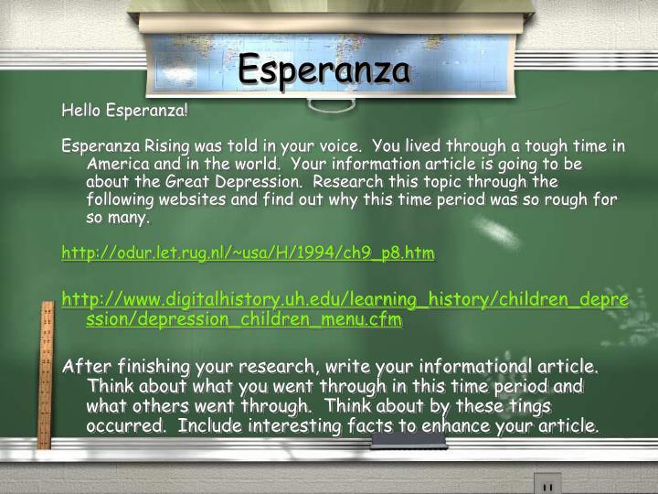 Ppt Esperanza Rising Pam Munoz Ryan Powerpoint Presentation Id
