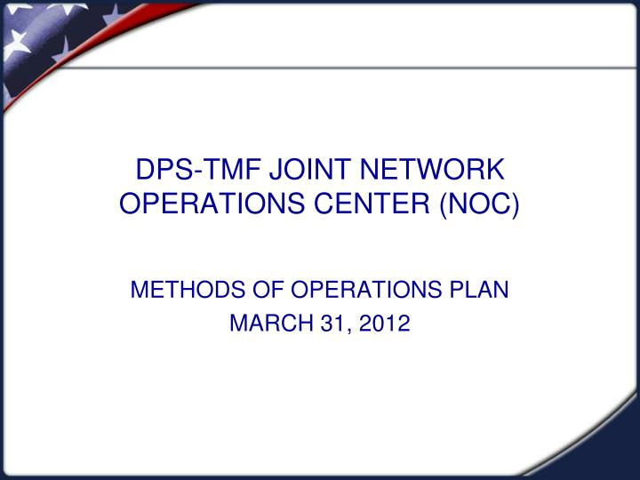 dps tmf joint network operations center noc n.
