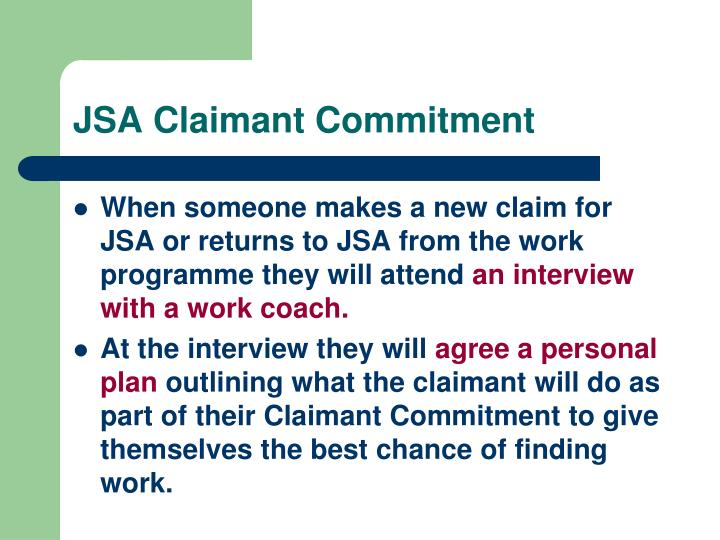 JSA Claimant Commitment