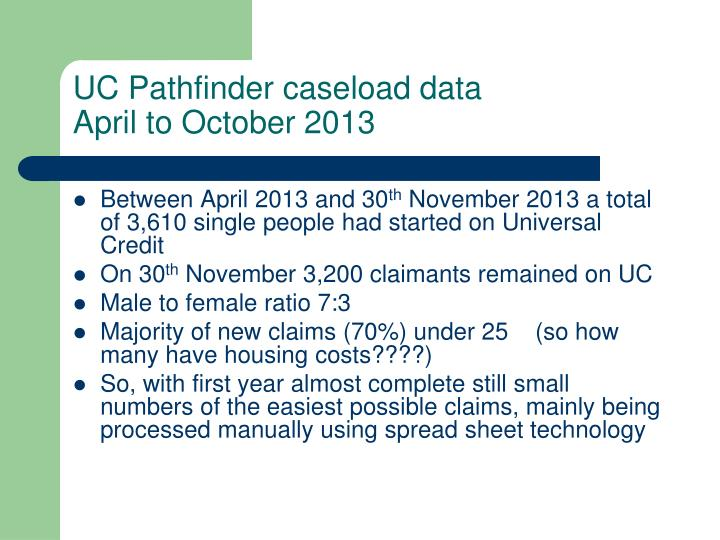 UC Pathfinder caseload data