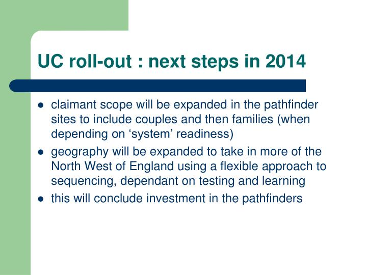 UC roll-out : next steps in 2014