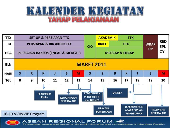 Kalender kegiatan