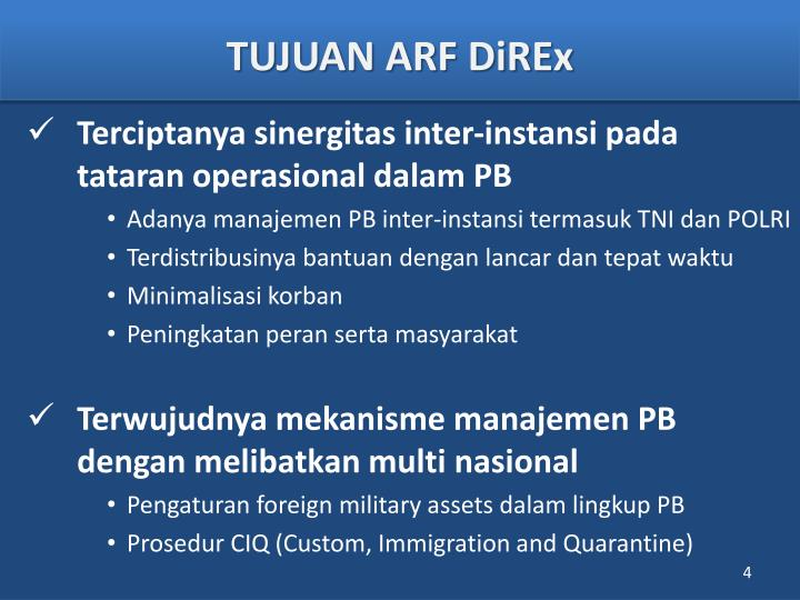 TUJUAN ARF DiREx