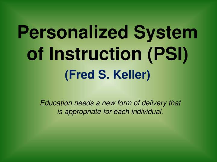 Ppt The Roots Of Ace Individualization And Mastery Learning
