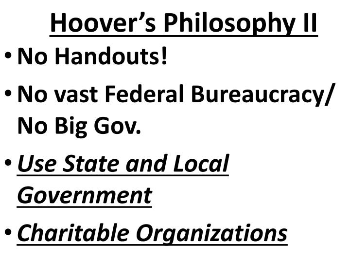 Ppt Ch 14 Sec 3 Hoover Struggles With The Depression