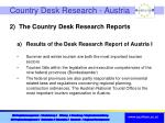 country desk research austria
