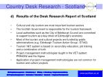 country desk research scotland