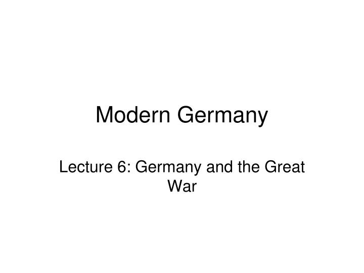 modern germany n.