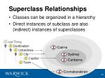 superclass relationships